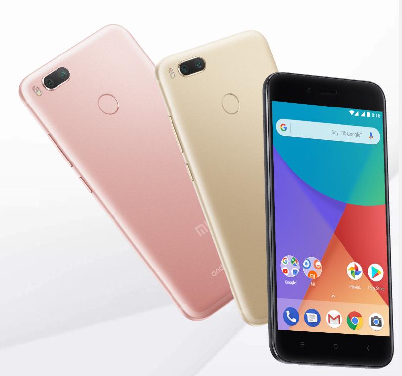 Original Xiaomi Mi A1 (5,5″, Snapdragon 625, 4GB RAM, 64GB ROM), ohne Xiaomi Oberfläche (mit Android One) inkl. Versand und 1 Jahr EU-Garantie, Farben: Schwarz oder Gold.