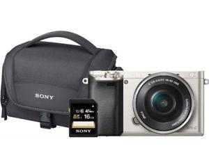 Sony Alpha 6000 +16-50mm+Tasche+16GB SDHC