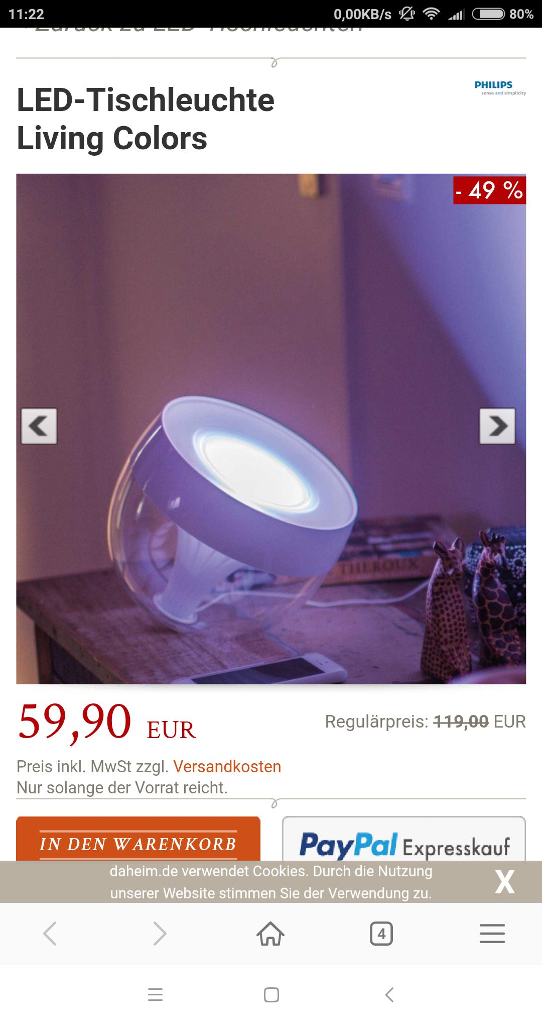 Philips Iris weiß mit newsletter 55 Euro pro Stück