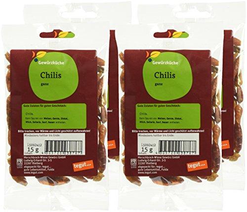 4 x 15g Tegut Chilis Ganz für 2,06€ + WEITERE GEWÜRZE (s.Text) @ Amazon (Plus Produkt)