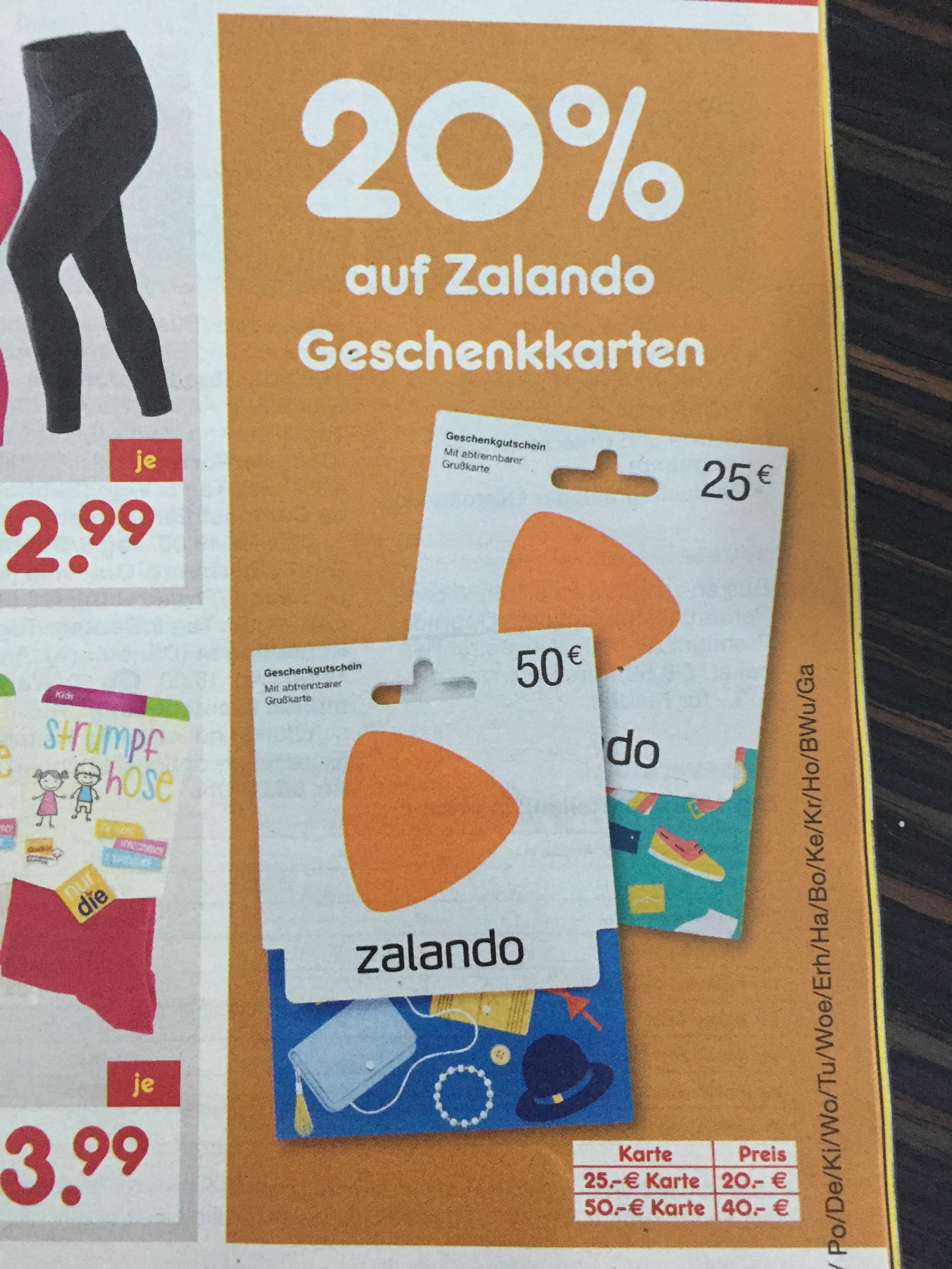 *Ab sofort* 20% auf Zalando Geschenkkarten bei Netto MD