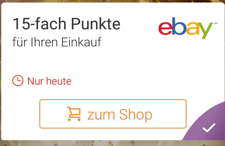 [Deutschlandcard] 7,5% bei eBay / 10-fach Punkte bei Esso Edeka Netto / 10€ Otto MBW 40€