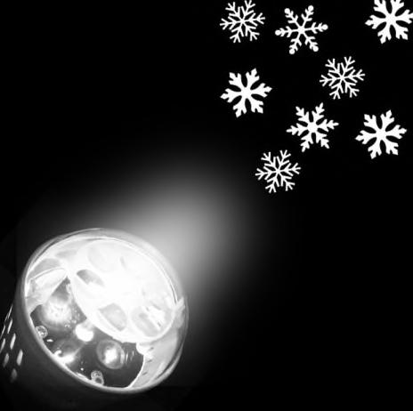winterliche Schneeflocken Glühbirne, weißes Licht, 12-14V