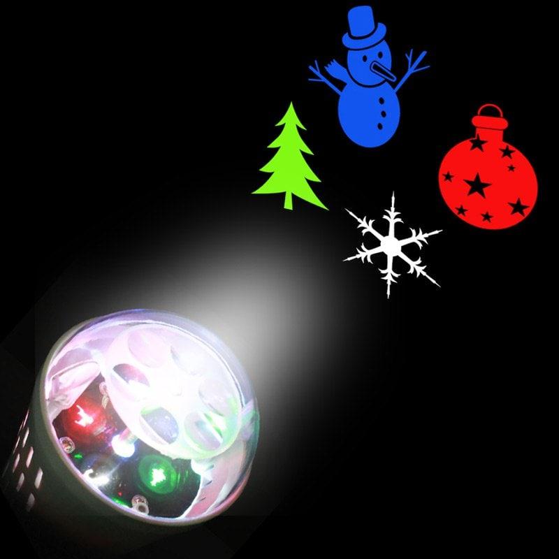 Glühbirne mit Weihnachtsmotiv, bunt, 12-14V