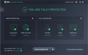 AVG Internet Security 2018 [für 1 PC / 1 Jahr] @SharewareOnSale