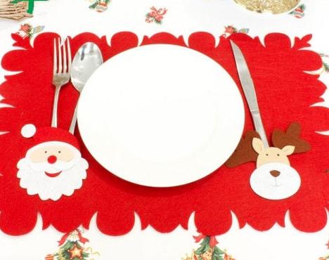 Tischset für den Weihnachtstisch