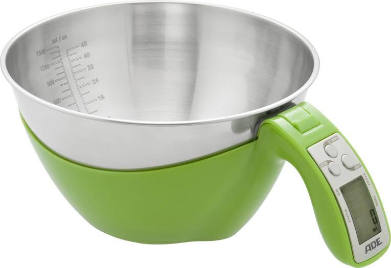 ADE Digitale Küchenwaage mit Messschale KE 1285 Sarah Wägebereich 5 kg, Edelstahl, Grün für 11€ - Bluetooth-Lautsprecher für 1,11€ ab 14,99€ Warenkorbwert möglich [Voelkner]