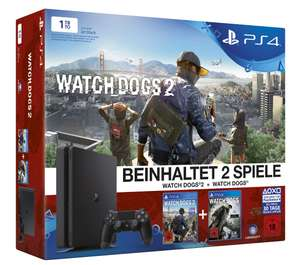 PlayStation 4 1TB Slim + Watchdogs 1+2 (REGIONAL: DEGGENDORF)