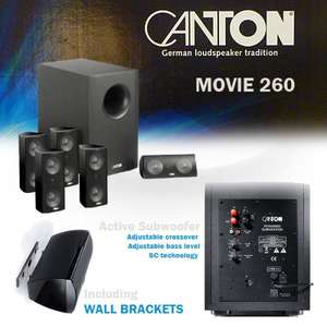 Canton Movie 260 5.1 Heimkinosystem mit aktivem Subwoofer @ibood.com 308,90€