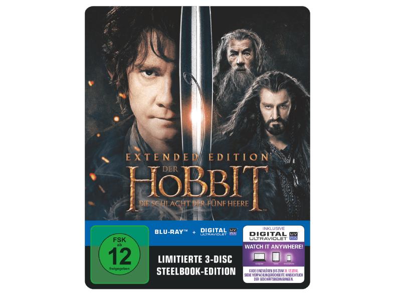 Der Hobbit - Die Schlacht der fünf Heere Extended Steelbook (Blu-ray + UV Copy) für 9,99€ & Der Hobbit: Eine unerwartete Reise - Extended Edition Steelbook (Blu-ray) für 9,99€ versandkostenfrei (Saturn)