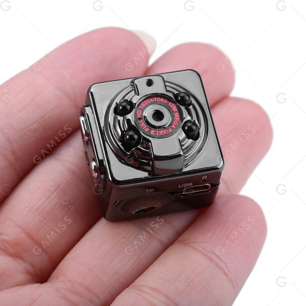 SQ8 Mini-Kamera / SpyCam mit AnGuo-Chipsatz (ggf. mit Erhitzung) (FHD = 1080p, microUSB, SD-Card-Reade