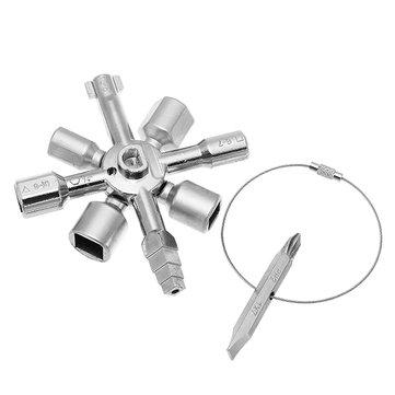 Schaltschrankschlüssel, Multifunktionsschlüssel (Zink-Legierung)