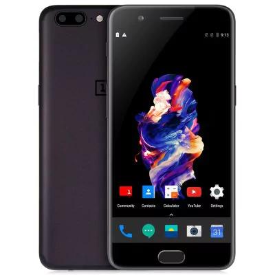 """OnePlus 5 4G Grau (5,5"""" FHD, Snapdragon 835, 8GB RAM, 128GB ROM, 3300 mAh, Band 20)"""