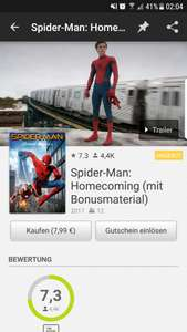 Spider-Man Homecoming (mit Bonusmaterial)