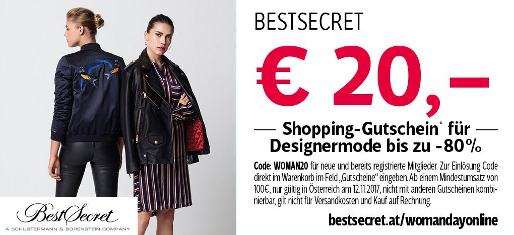 [BestSecret] 20€ Rabatt ab 100€ Bestellwert für Mitglieder aus Österreich