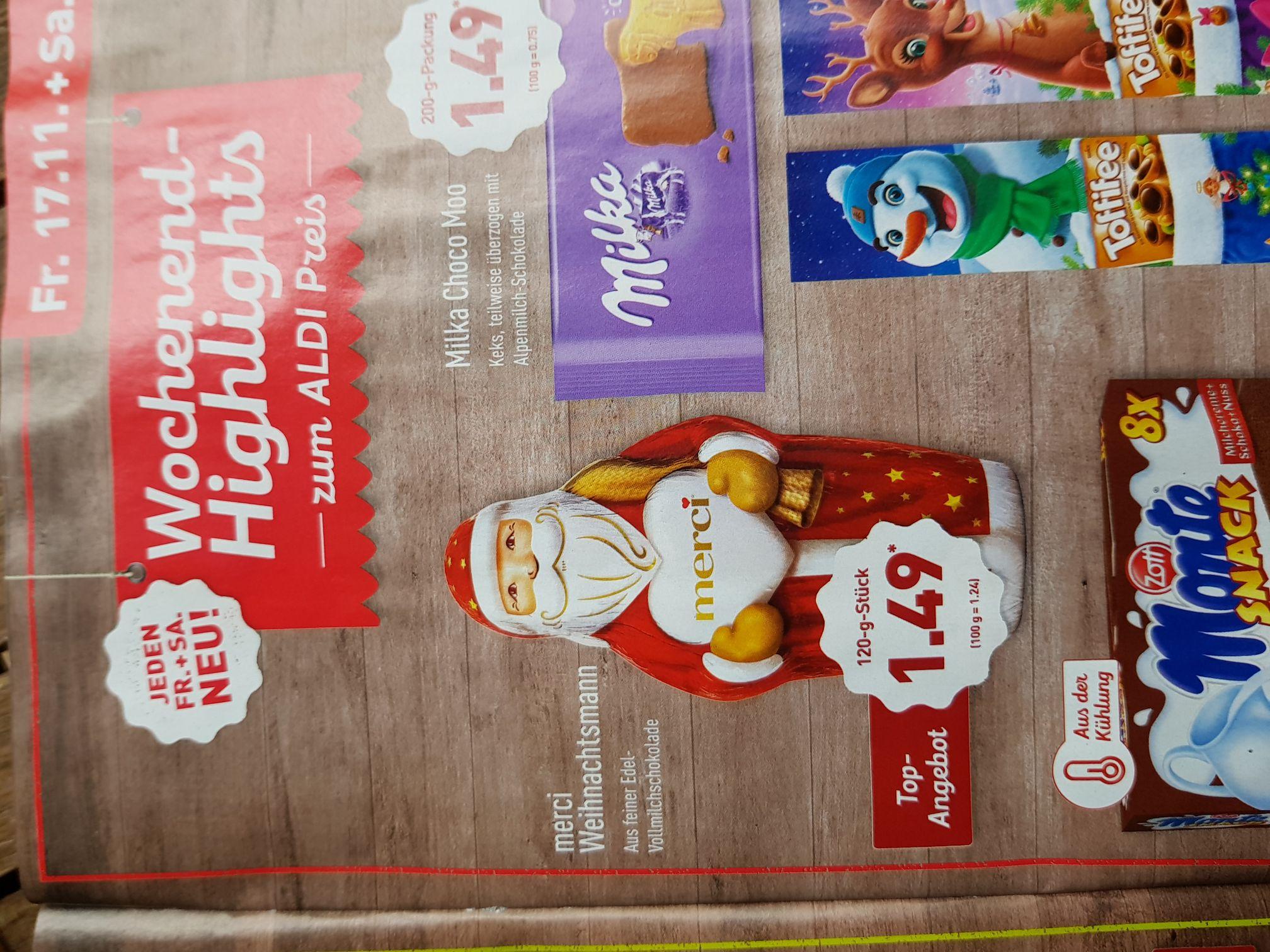 (Aldi Nord) Merci Weihnachtsmann 120g nur 1.49€