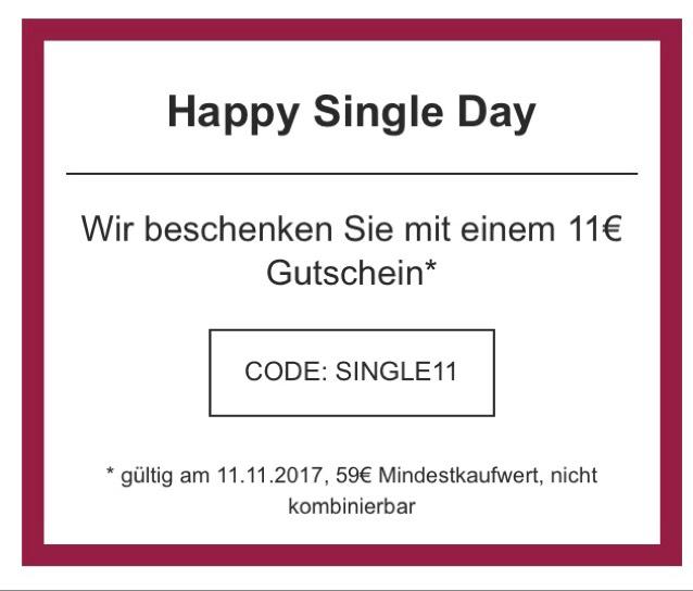 Flaconi nur heute -11€ mit dem Code SINGLE11, nicht kombinierbar, MBW 59€