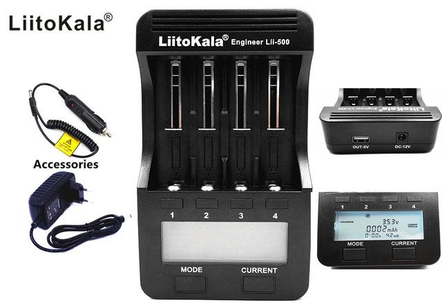 Liitokala Lii500 LCD Display Ladegerät für AAA-18650 Akkus, 1000mA