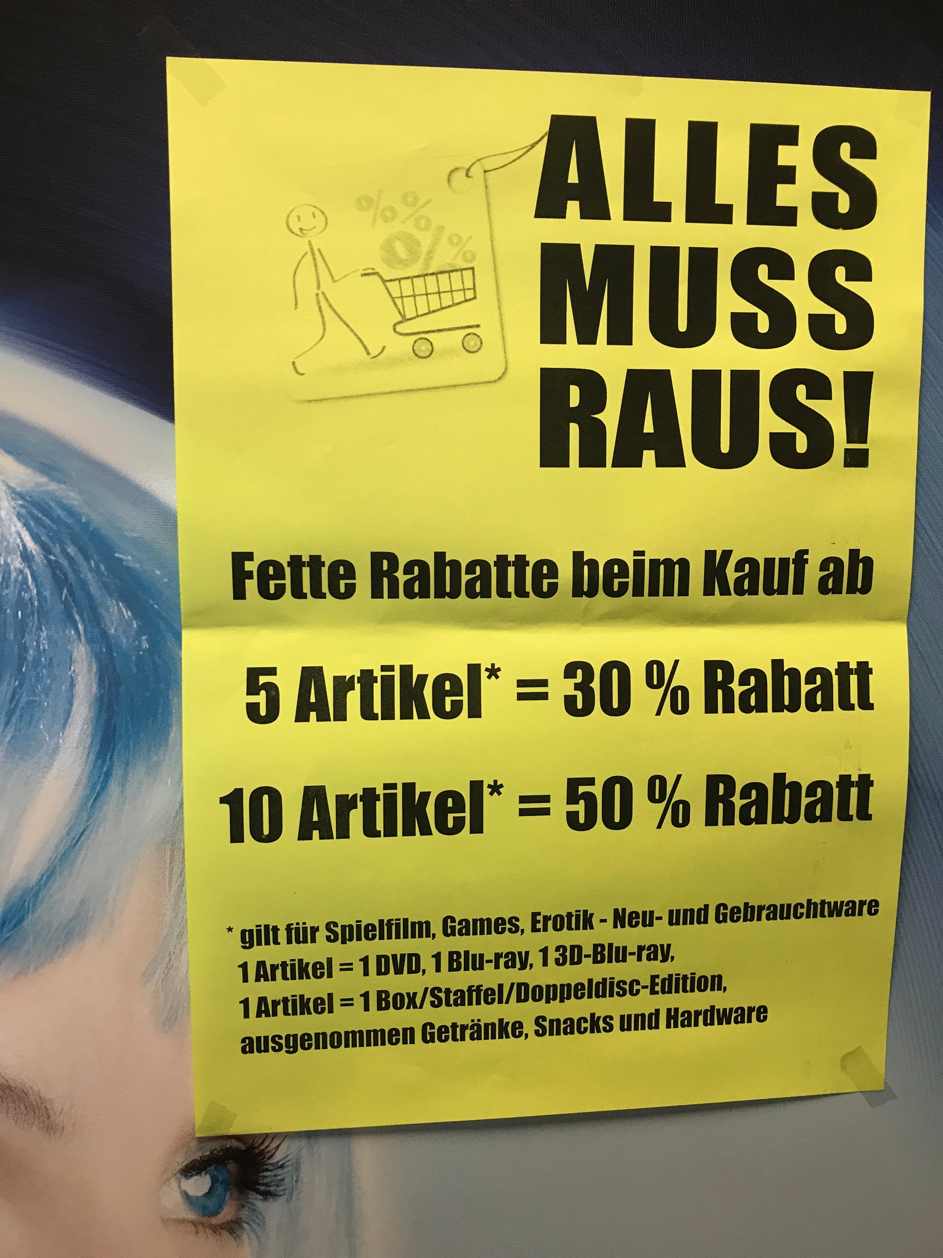 Lokal Dortmund : World of Video Räumungsverkauf (Höfkerstr., Dorstfeld)