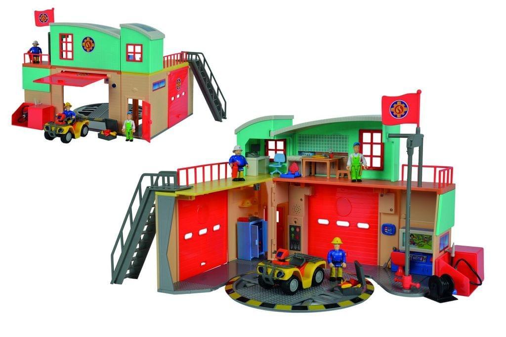 [Amazon oder real] Simba 109258282 - Feuerwehrmann Sam Neue Feuerwehrstation zum Aufklappen mit Figur