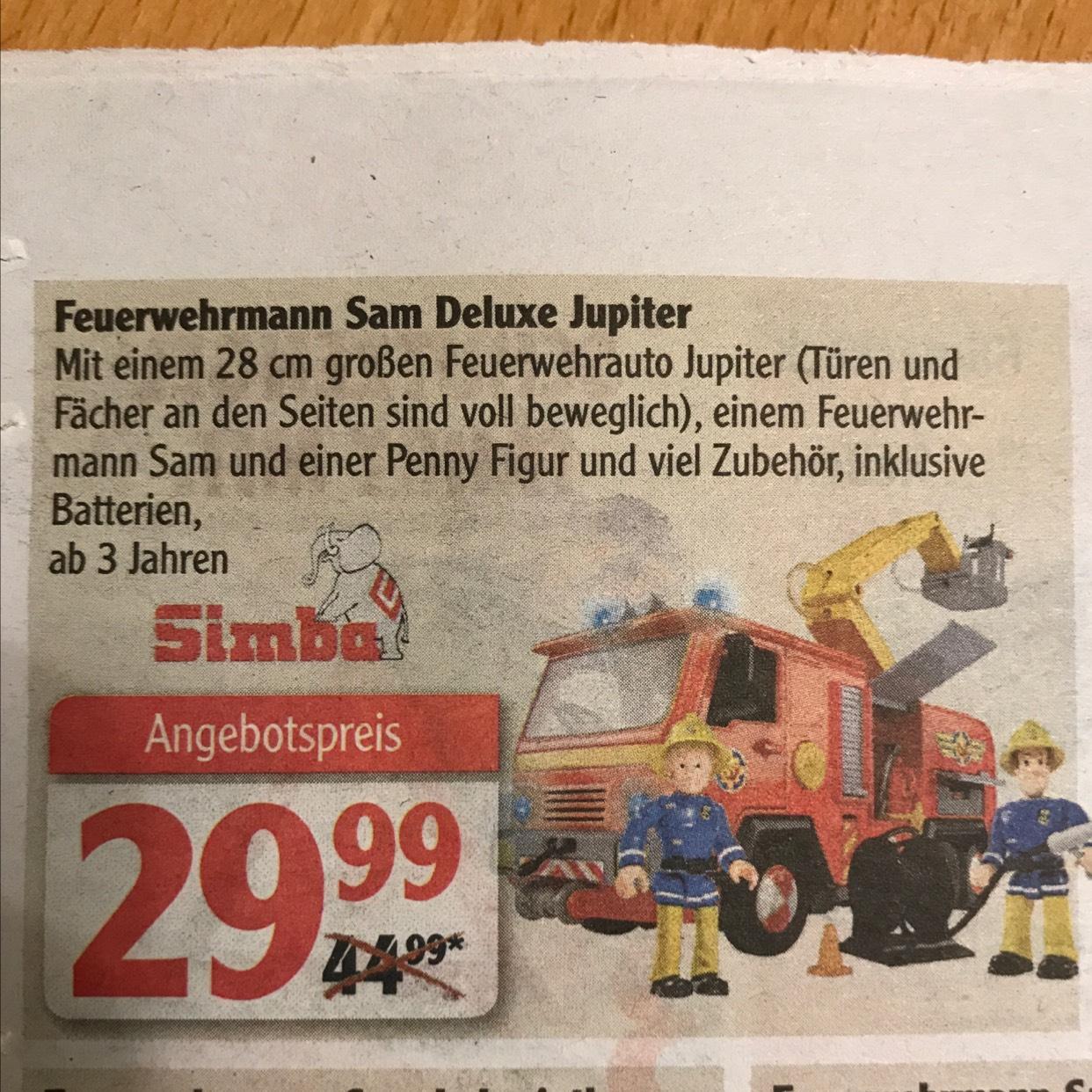 [Lokal Globus Lahnstein, Koblenz] Simba Toys Feuerwehrmann Sam Jupiter