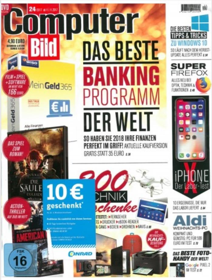 10€ Conrad.de Gutschein mit 30€ MBW in aktueller Computer Bild Ausgabe 24/17 -> zB Amazon Fire TV Stick 2017 für 30€