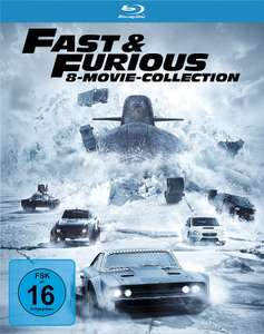 Fast & Furious 8-Movie Collection (Blu-ray) für 29€ versandkostenfrei (Media Markt + Amazon)