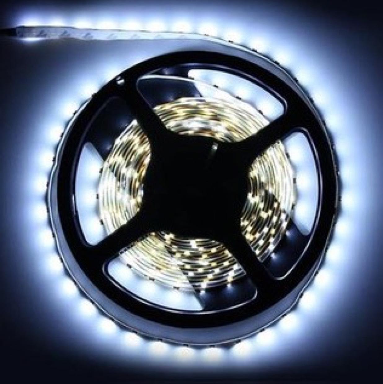 5M Weiß 3528 SMD LED Streifen Licht Nylon Nicht-Wasserdicht 12V DC 300 LED