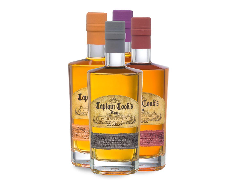 Lidl Captain Cook Rum-Paket 4x0,5 Liter