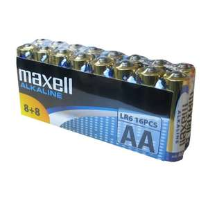 "[Amazon Plus] Maxell 790266 ""LR6"" Alkaline Batterie (AA, 16-er Vorratspack) silber"