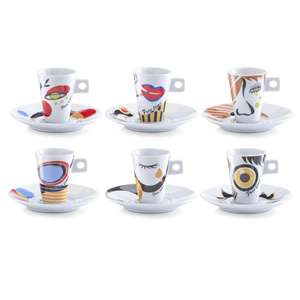 zeller Espresso-Tassen-Set Faces 12-tlg