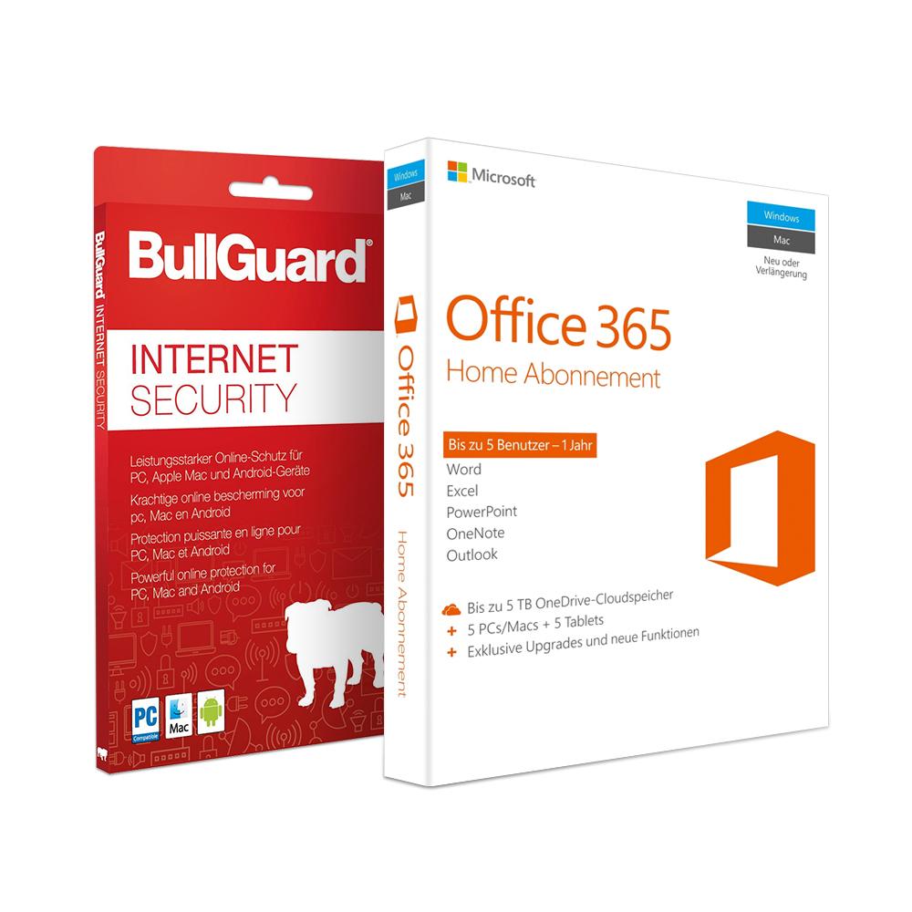 Office 365 HOME für 5 Geräte 1 Jahr + BullGuard Security 52,98 (NBB)