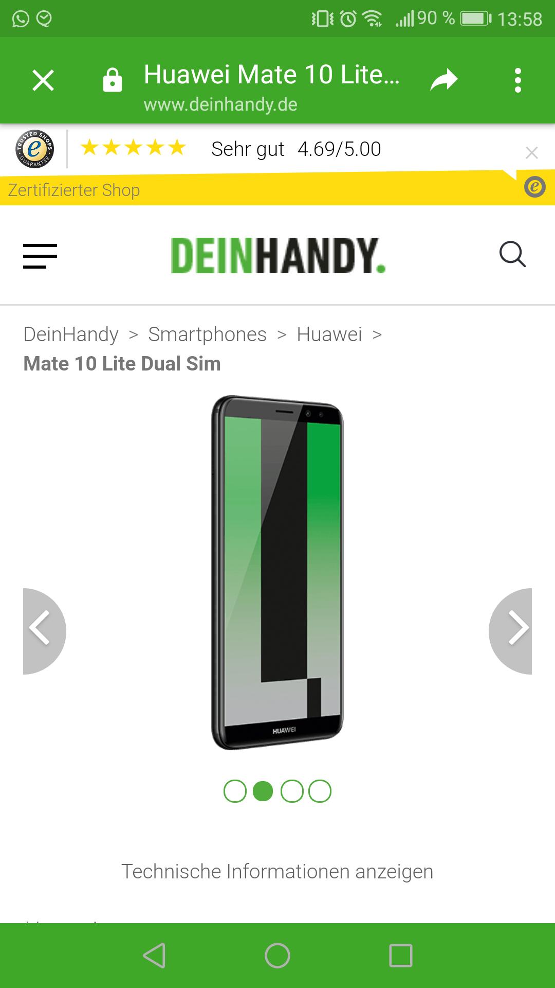 Huawei Mate 10 Lite + 5gb Lte Allnet