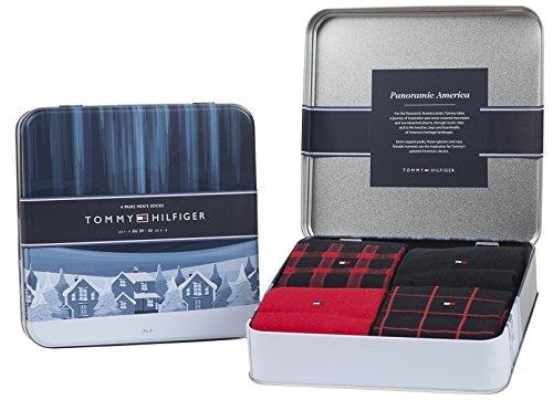 Tommy Hilfiger Herren Socken 4 Paar in Geschenkbox [Amazon PRIME]