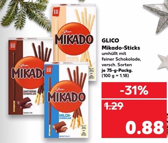 [KAUFLAND] Mikado Sticks versch. Sorten 75g für nur 0,88€ (ab 20.11.2017)