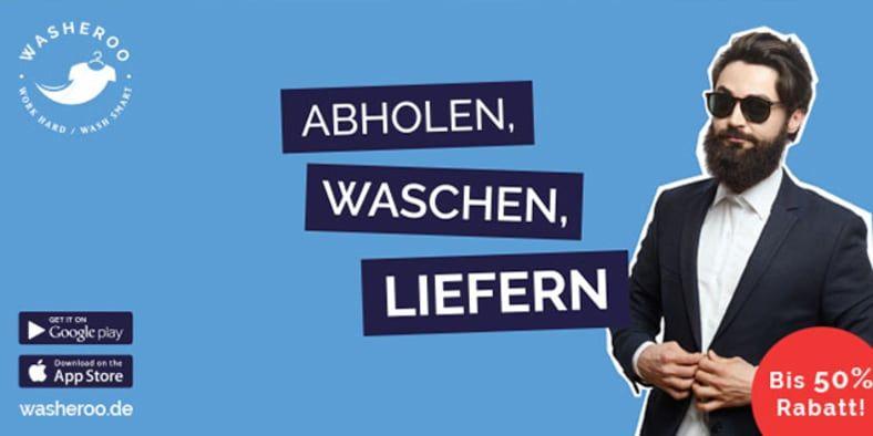 Reinigung z.B. 10 Hemden à 0,87-1€ inkl. Abholung & Lieferung Washeroo