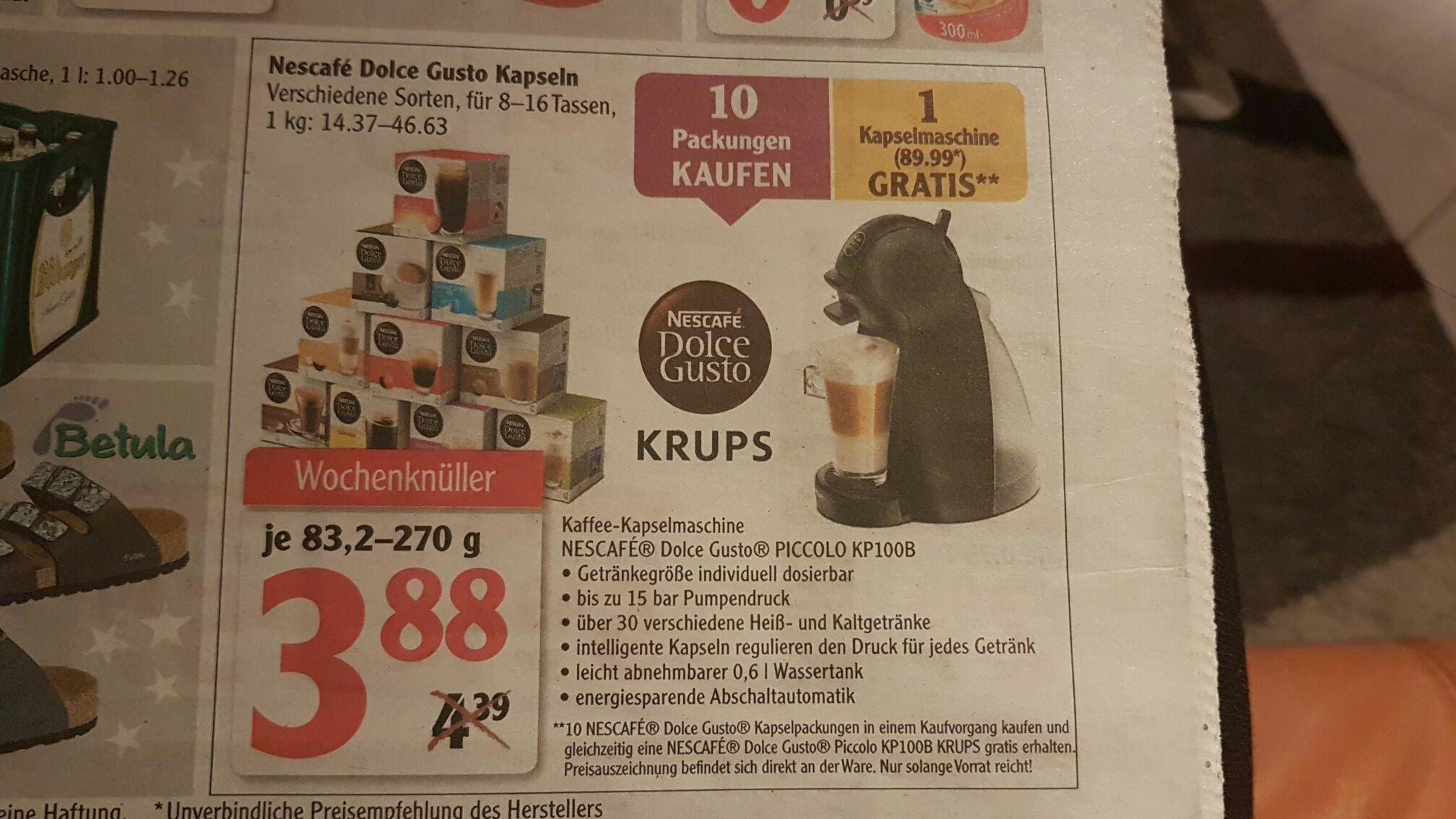 (Local Globus) Krups Nescafe Dolce Gusto Piccolo KP100B