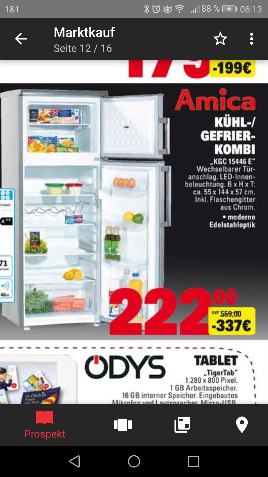 Amica KGC15446E Kühl/Gefrierschrank für 222 statt 269 Euro