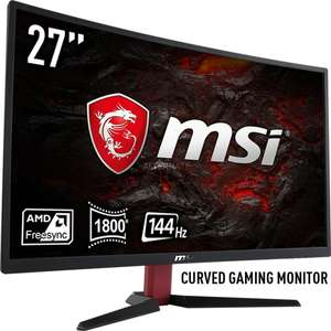 MSI Optix G27C2-305D, VA LED-Monitor schwarz, HDMI, DisplayPort, DVI, Curved, 144Hz, Adaptive Sync/​AMD FreeSync