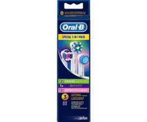 [Amazon.de Blitzangebot] Oral-B Multi Pack 3 in 1 Aufsteckbürsten, CrossAction, Sensitive, 3DWhite, 3 Stück