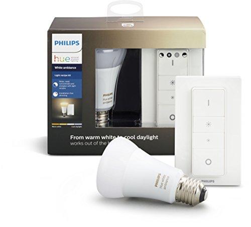 [Amazon] Philips Hue E27 White Ambiance + Dimmschalter für 36,95€