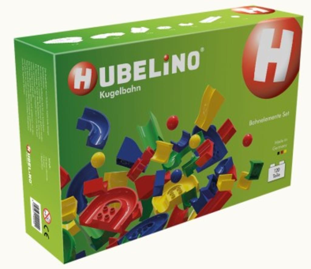 [real.de] Hubelino Kugelbahn mit 120 Teilen - kompatibel mit Lego Duplo