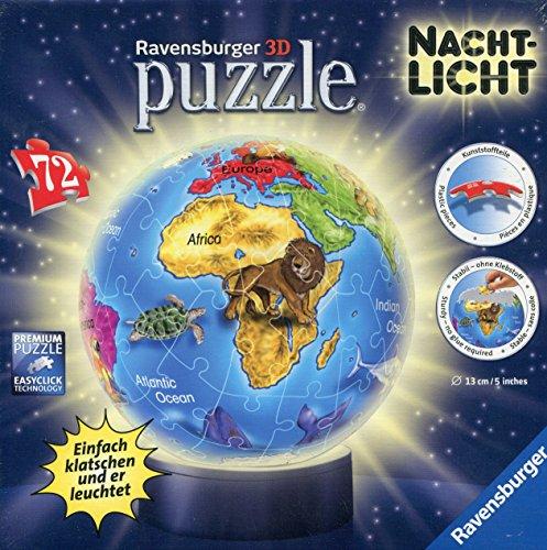 [Amazon] Ravensburger 12142 - Nachtlicht Kindererde Puzzleball, 72 Teile