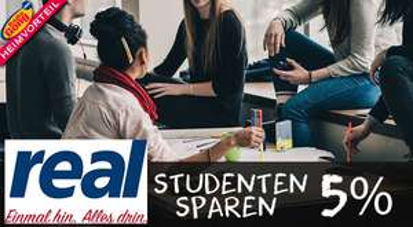 [real Würzburg] 5 % Rabatt auf das komplette Sortiment für Studenten/innen/Studen