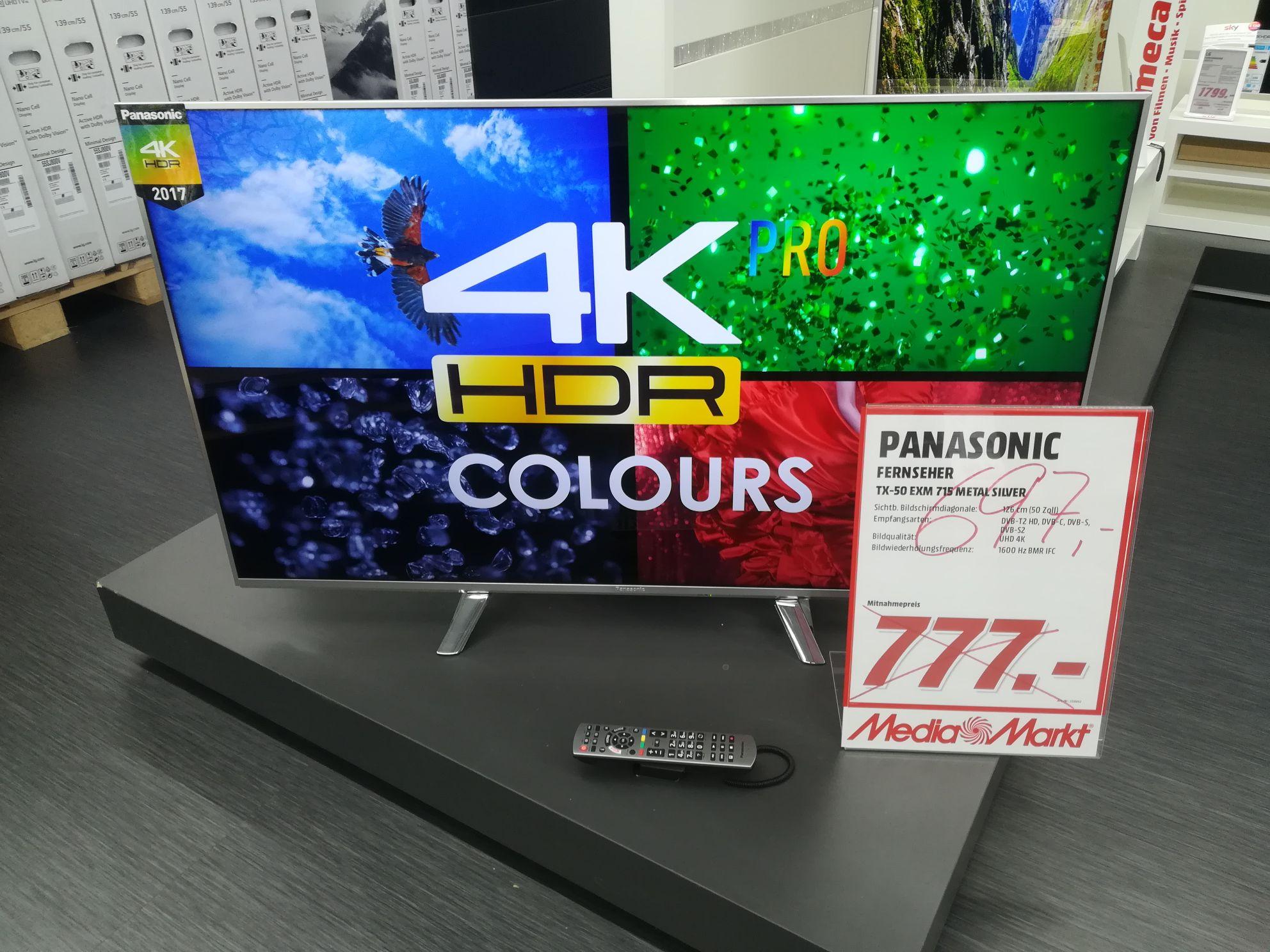 Panasonic TX 50 exm 715 -  im mediamarkt in der hasengartenstr in Wiesbaden.