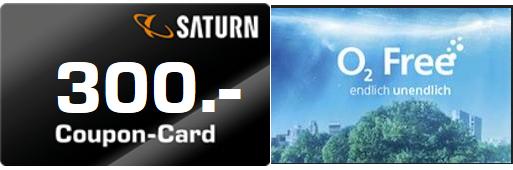 o2 Free S SIM only (1 GB LTE, danach unbegrenzt 3G/HSPA bis zu 1Mbit/s) für monatlich 19,99 € mit 300 € Saturn Coupon