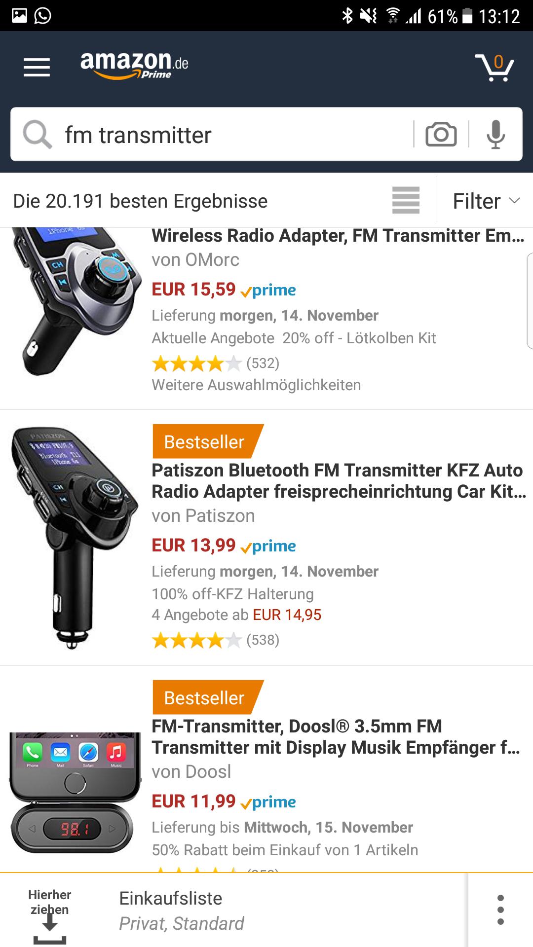 Bluetooth FM Transmitter dazu Gratis KFZ-Halterung