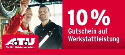Über www.gmx.de 10% Gutschein bei A.T.U auf alle Werkstattleistungen