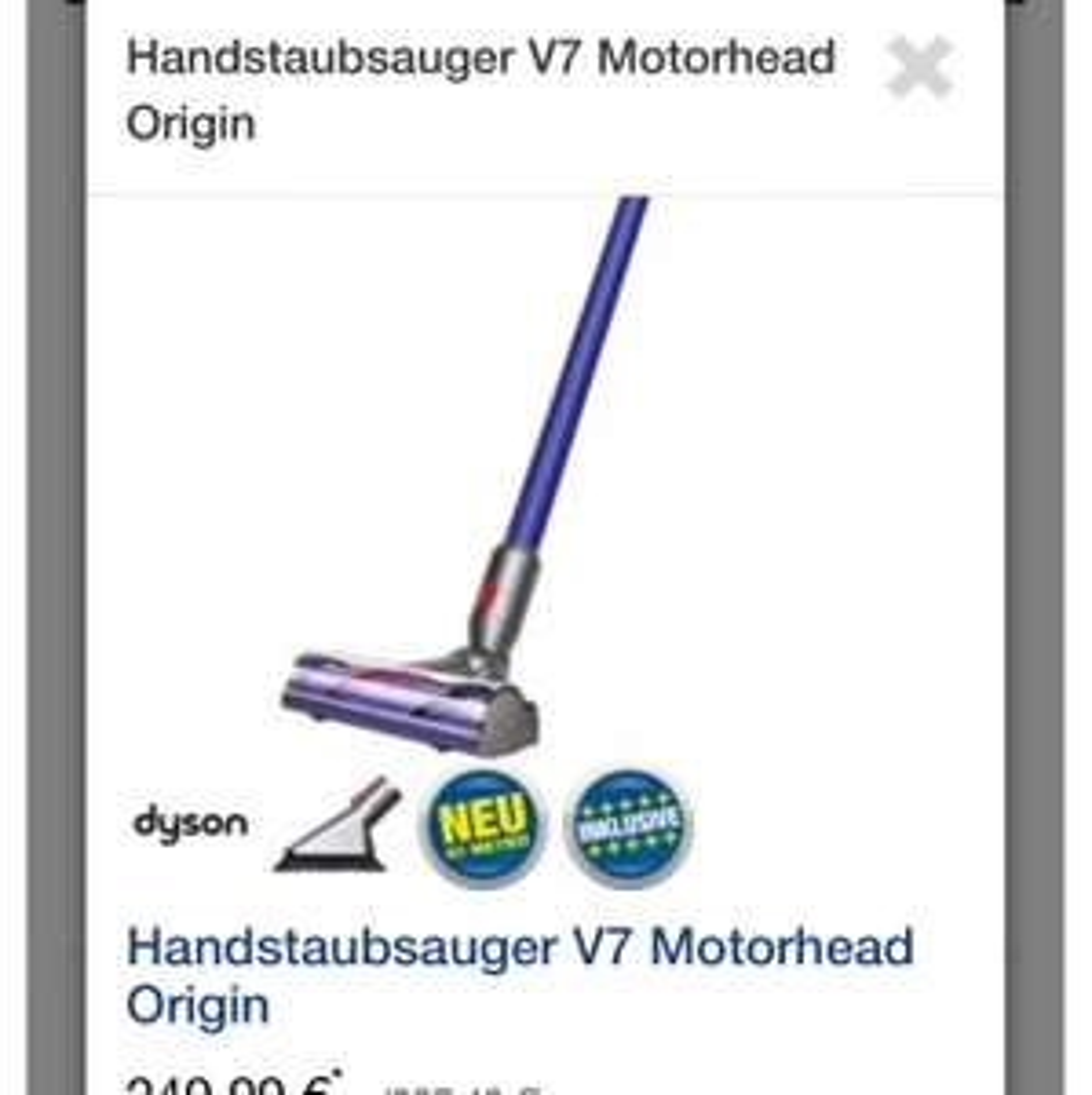 Dyson V7 Motorhead
