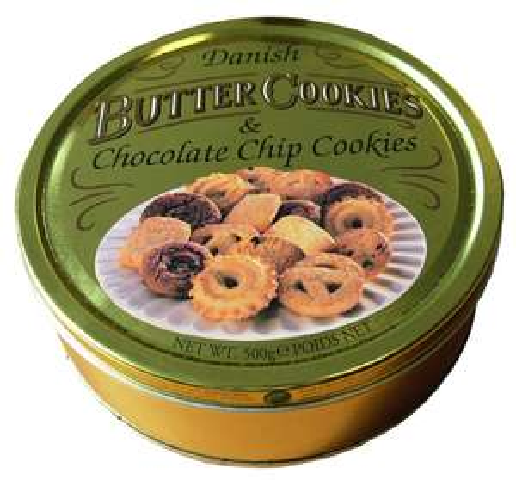 Butter Cookies Dänische Butter und Choco Chip Cookies, 12er Pack (12 x 500 g) für 12,82€ (Amazon Prime)